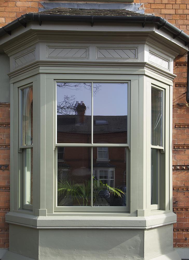 Kings Heath three sided sash bay window