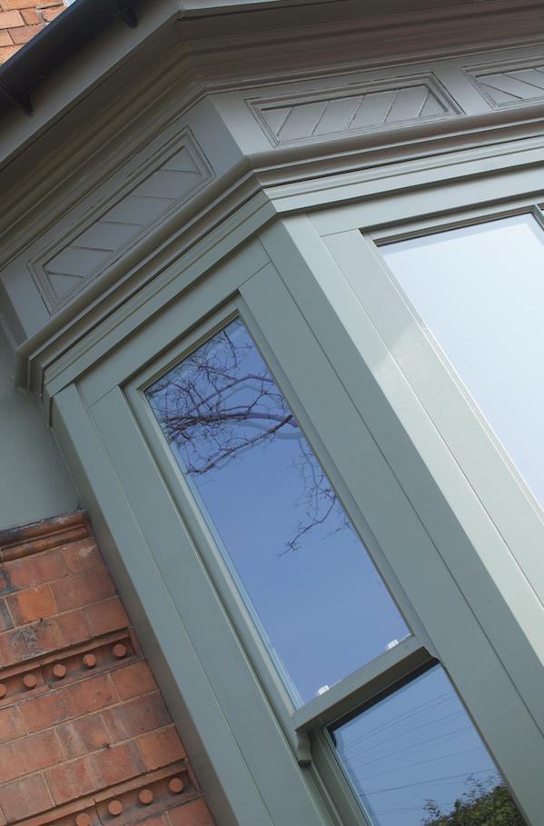 Timber wooden sash windows Leamington Spa