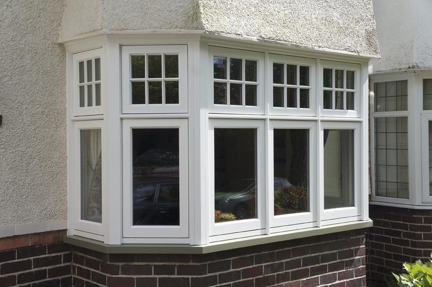 Seven sided deco casement bay window