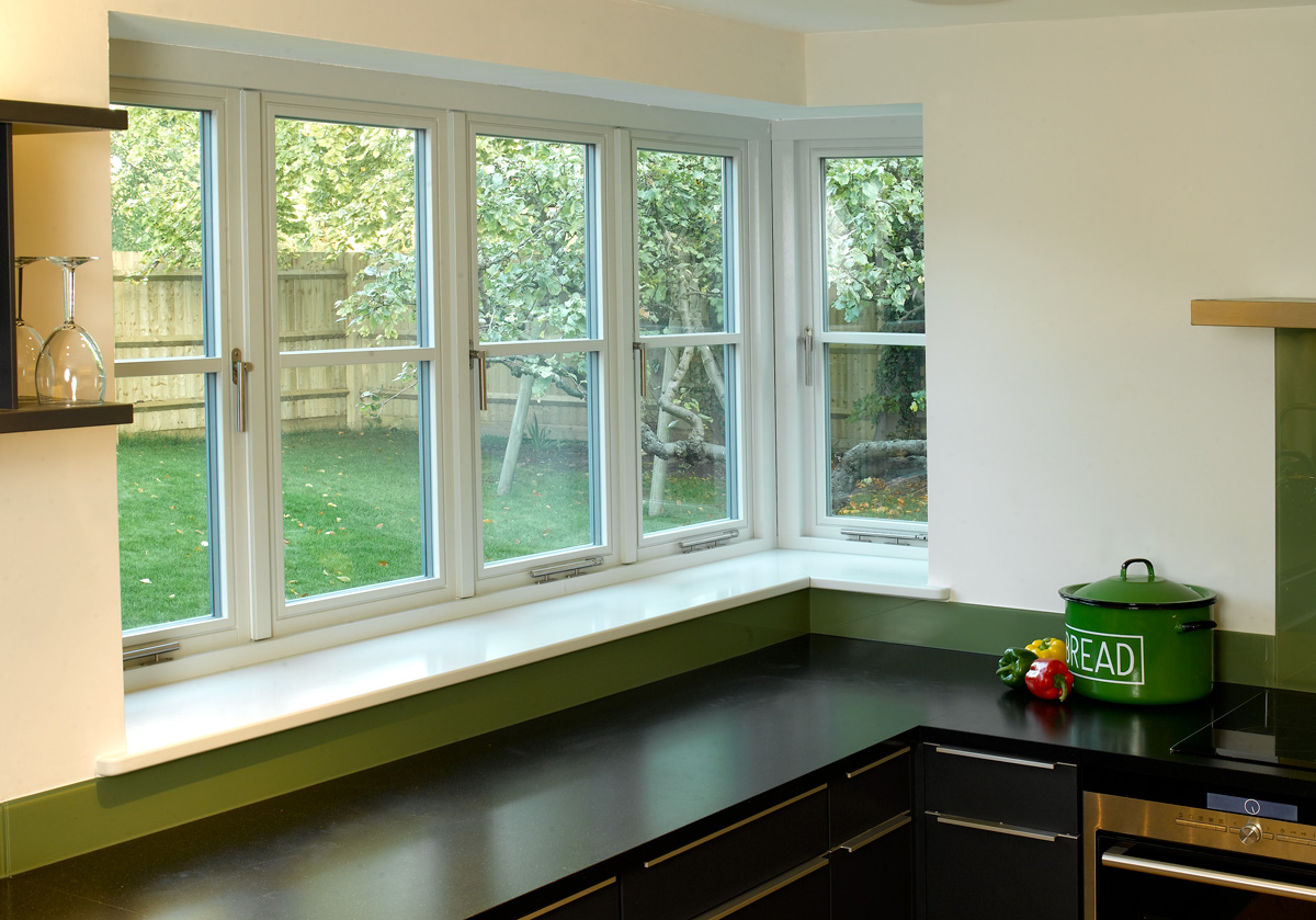contemporary flush casement window side panel