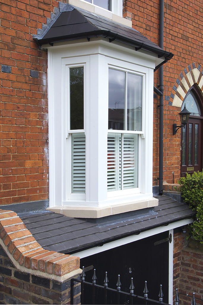 hidden spring box sash bay plantation shutter