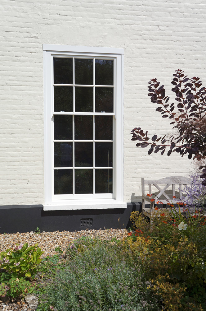 tall conventional slim box sash window georgian bars