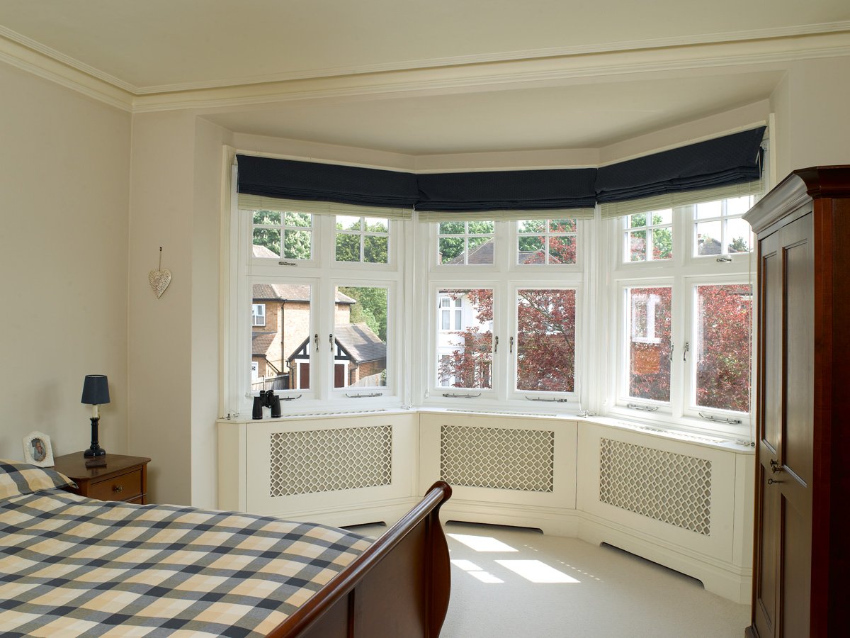 three sided deco casement bay window chrome furniture