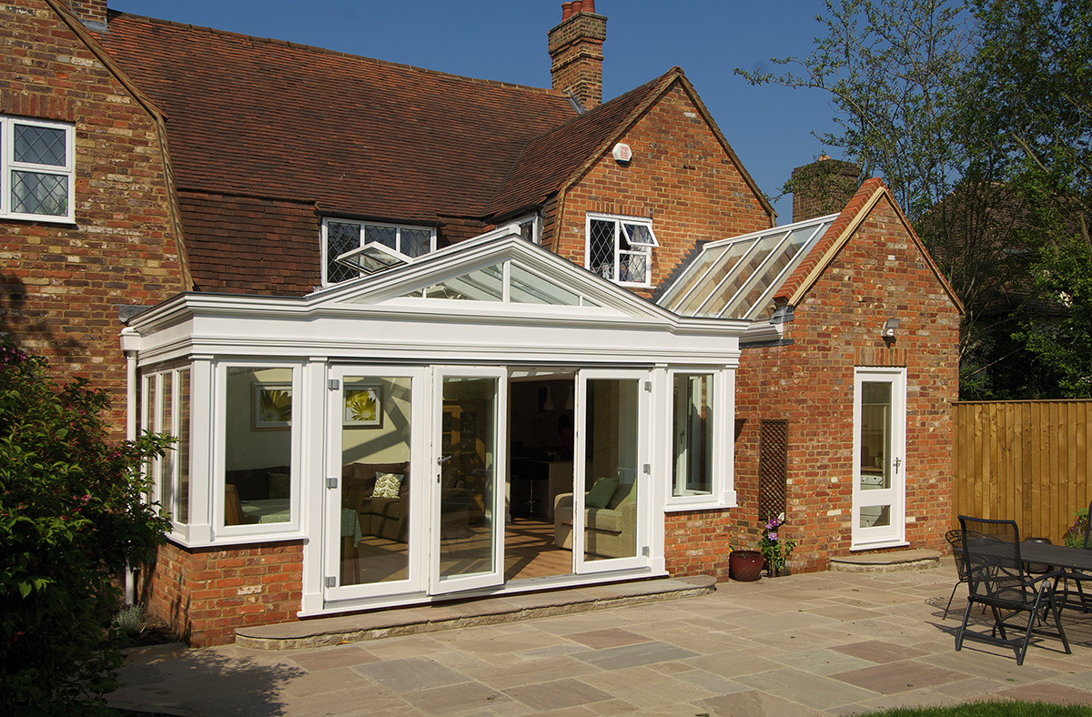 timber orangery bifold door casement window Warwickshire